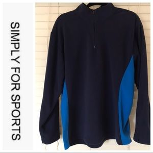 SIMPLY FOR SPORTS PULLOVER FLEECE SIZE M